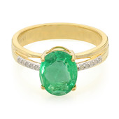 18K Zambian Emerald Gold Ring