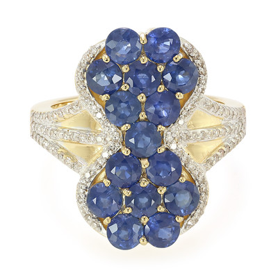 18K Laos Sapphire Gold Ring