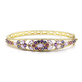 Rose de France Amethyst Silver Bangle