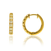 14K SI Yellow Diamond Gold Earrings (CIRARI)