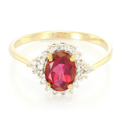 Red Topaz Silver Ring (Cavill)
