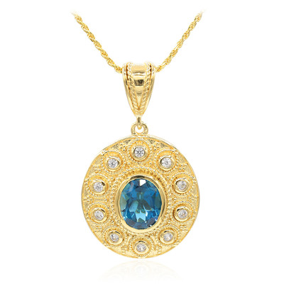 London Blue Topaz Silver Necklace (Memories by Vincent)