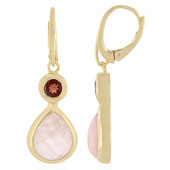 Sawar Rose Quartz Silver Earrings