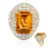 14K Madeira Citrine Gold Ring (Dallas Prince Designs)