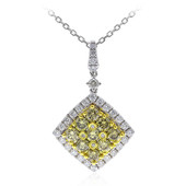 14K SI Green Diamond Gold Necklace (CIRARI)