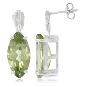 Kiwi Topaz Silver Earrings