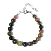 Fancy Tourmaline Silver Bracelet