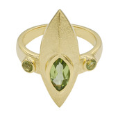 Peridot Silver Ring (MONOSONO COLLECTION)
