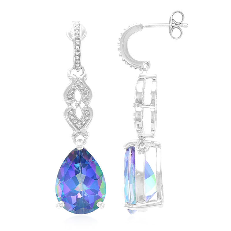 1c02024b96c1b Mystic Blue Topaz Silver Earrings-3532KV | Rocks & Co.