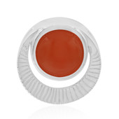 Carnelian Silver Pendant (MONOSONO COLLECTION)