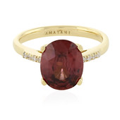 18K Mahogany Zircon Gold Ring