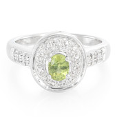 Green Sapphire Silver Ring