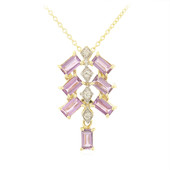 10K Unheated Ceylon Purple Sapphire Gold Necklace (Molloy)