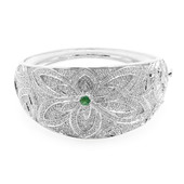 Socoto Emerald Silver Bangle (Molloy)