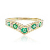 9K Zambian Emerald Gold Ring