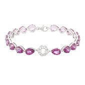 Grape Topaz Silver Bracelet