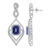 18K AAA Tanzanite Gold Earrings (de Melo)