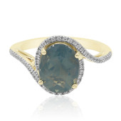 9K Blue Fire Opal Gold Ring