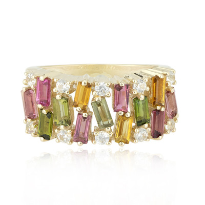 9K Fancy Tourmaline Gold Ring (Adela Gold)