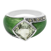 Green Amethyst Silver Ring