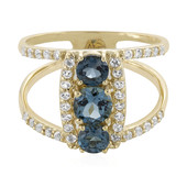 9K London Blue Topaz Gold Ring (Adela Gold)