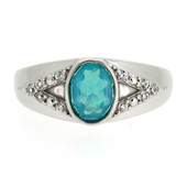 Caribbean Blue Opal Silver Ring