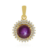 Channapatna Star Ruby Silver Pendant