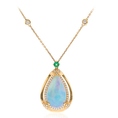 18K AAA Welo Opal Gold Necklace (CIRARI)