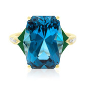 14K London Blue Topaz Gold Ring