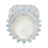 Mother of Pearl Silver Ring (Dallas Prince Designs)