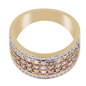 18K Pink Diamond Gold Ring