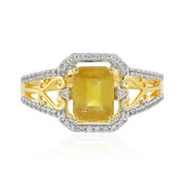 Madagascar Yellow Sapphire Silver Ring