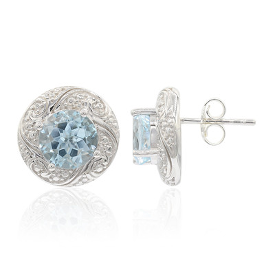 Sky Blue Topaz Silver Earrings (Remy Rotenier)