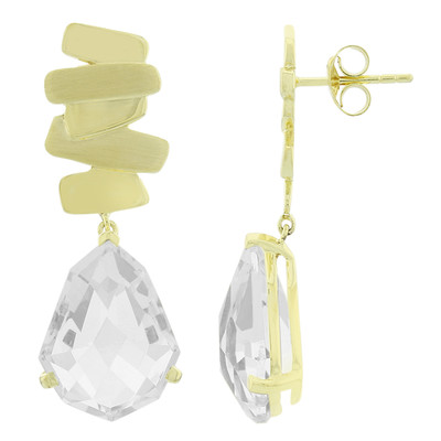 White Quartz Silver Earrings