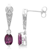 Magenta Garnet Silver Earrings (Cavill)