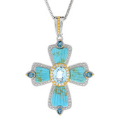 Kingman Blue Mojave Turquoise Silver Necklace (Dallas Prince Designs)