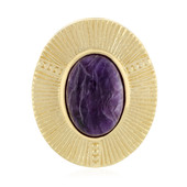 Charoite Silver Pendant (MONOSONO COLLECTION)