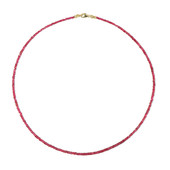 9K Red Burmese Spinel Gold Necklace
