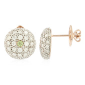 18K Demantoid Gold Earrings