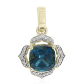 9K London Blue Topaz Gold Pendant