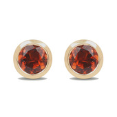 14K Orange Tourmaline Gold Earrings