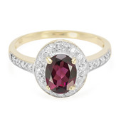 9K Brazilian Rhodolite Gold Ring
