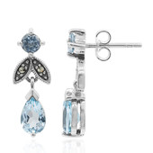 Sky Blue Topaz Silver Earrings