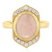Sawar Rose Quartz Silver Ring