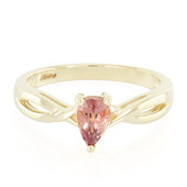10K Unheated Padparadscha Sapphire Gold Ring (Molloy)