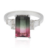 14K Watermelon Tourmaline Gold Ring