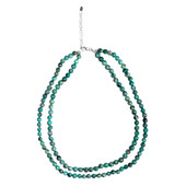 African turquoise Silver Necklace