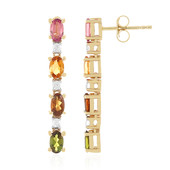 9K Pink Tourmaline Gold Earrings