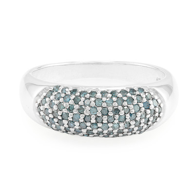 Fancy Diamond Silver Ring (Cavill)