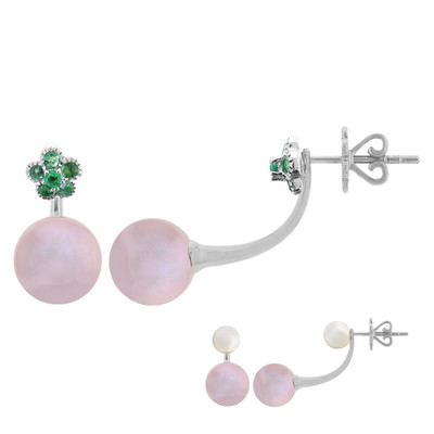 10K Kasumigaura Pearl Gold Earrings (M de Luca)